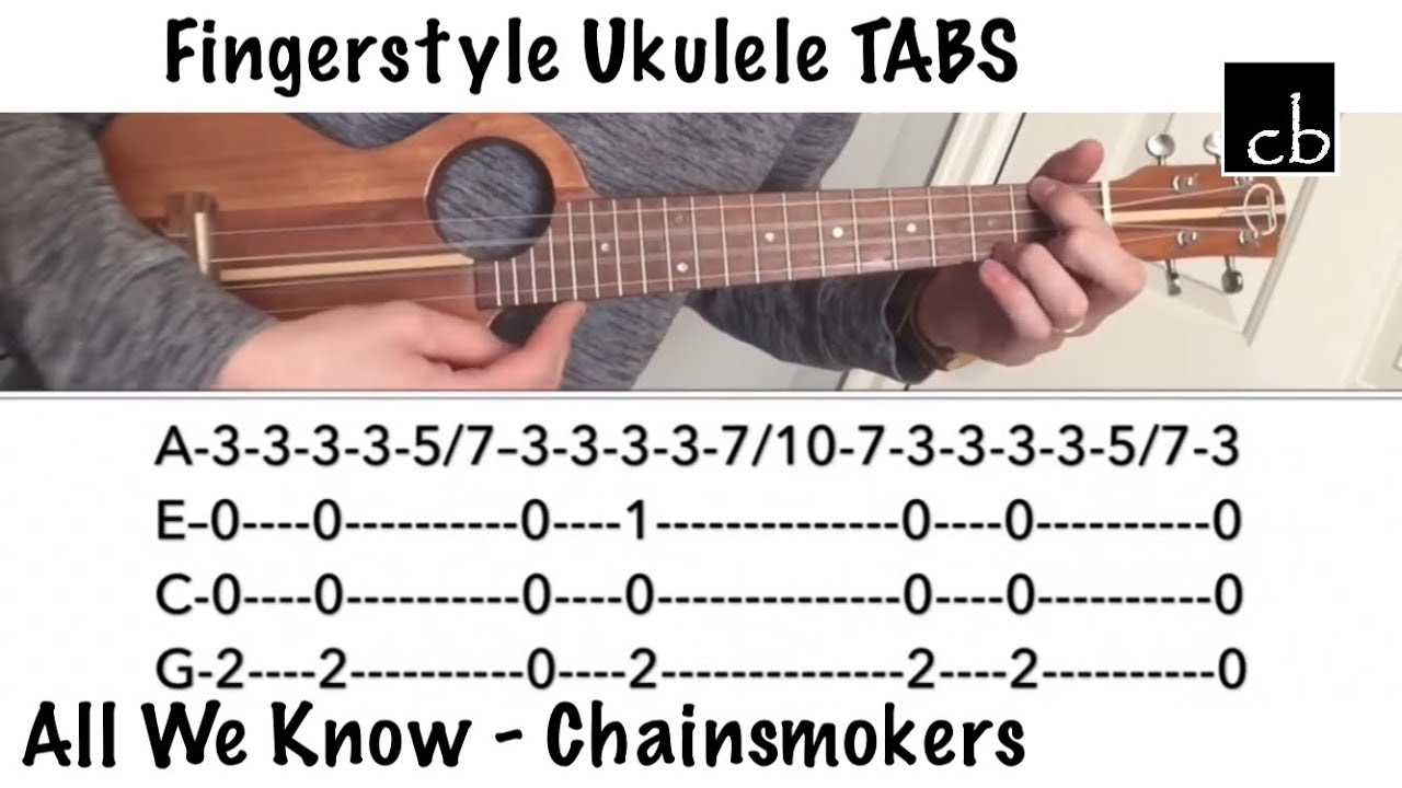 All We Know (Chainsmokers) FINGERSTYLE UKULELE TUTORIAL