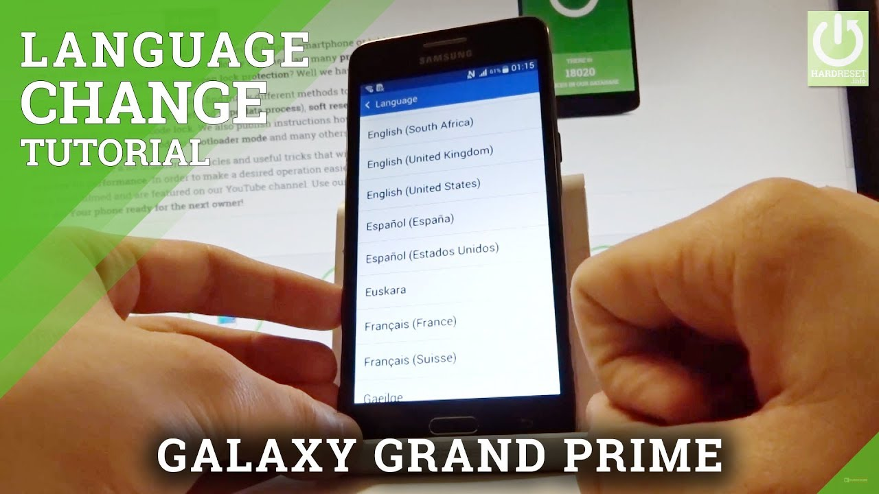 How to Change Language in SAMSUNG Galaxy Grand Prime - Set Language