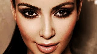 kim kardashian bronzy smokey eyes