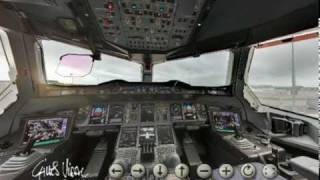 airbus a380 360 degree zoom flash simulator