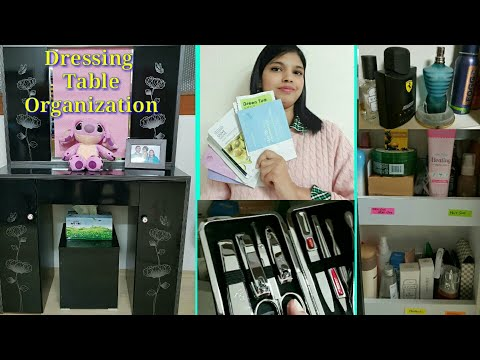 My Dressing Table Organization In Telugu | DRESSING TABLE ORGANIZATION IDEAS | VANITY TOUR