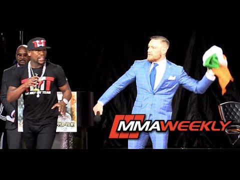 Thumbnail: Floyd Mayweather Snags Irish Flag; Conor McGregor Retaliates