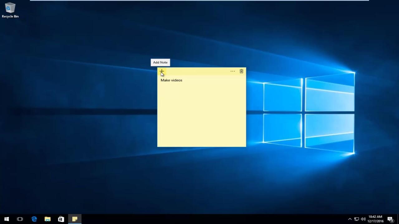 Windows 10 Sticky Notes [Tutorial]