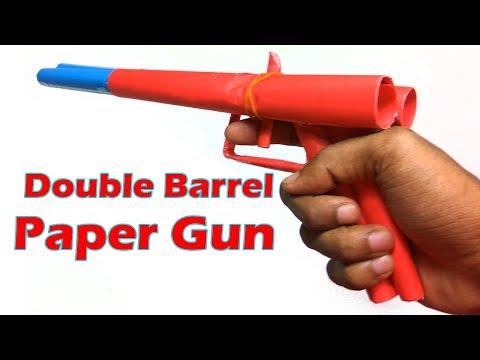 How To Make A Simple Paper Gun Easy Tutorials Doovi
