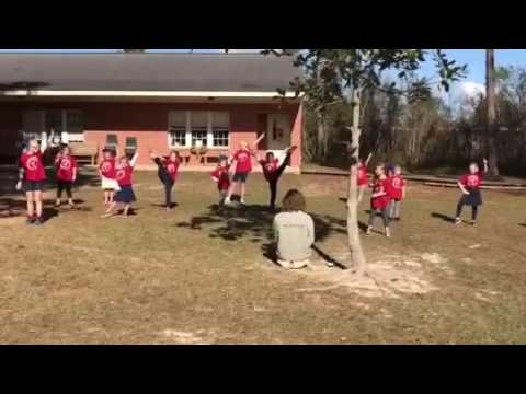 Sophia cheer performance at South Baldwin Christian academy December 2016