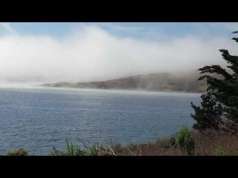 Whale Rock Reservoir, Cayucos -  Fog Bank Rolls Over Dam