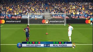 PSG vs REAL MADRID | UEFA Champions League - UCL | Penalty Shootout | PES 2018 Gameplay PC
