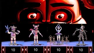 FNAF Sister Location: CUSTOM NIGHT (Fan Made) | ANIMATRONICS ATTACK FROM EVERY DIRECTION!