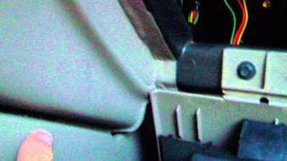 Locating the blend door flap inside the glove box of 02 Ford Explorer