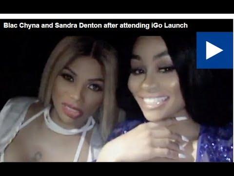 Blac Chyna and Sandra Denton after attending iGo Launch