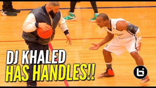 DJ Khaled Shows Off His Handles & Jumper at Antonio Brown Celeb Game
