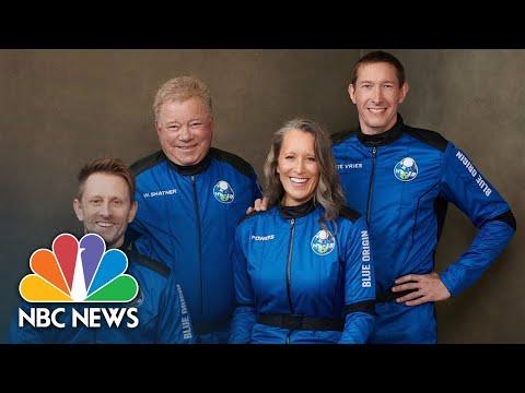 Watch: William Shatner Goes Into Space On Blue Origin Flight
