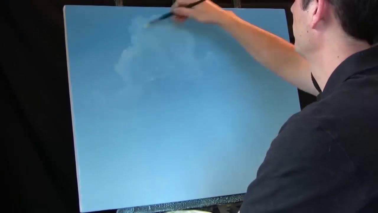 Yağlı Boyayla Bulut çizimi Nasıl Yapılır Youtube