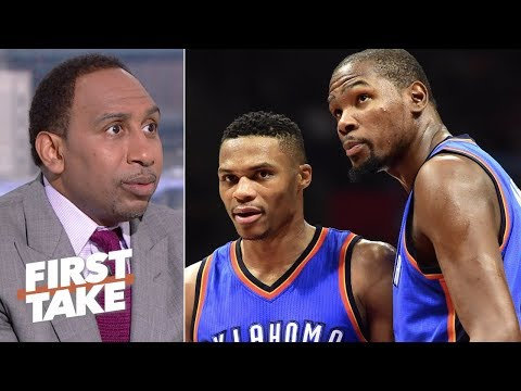 Russell Westbrook hasn't advanced in the playoffs without Kevin Durant – Stephen A. | First Take