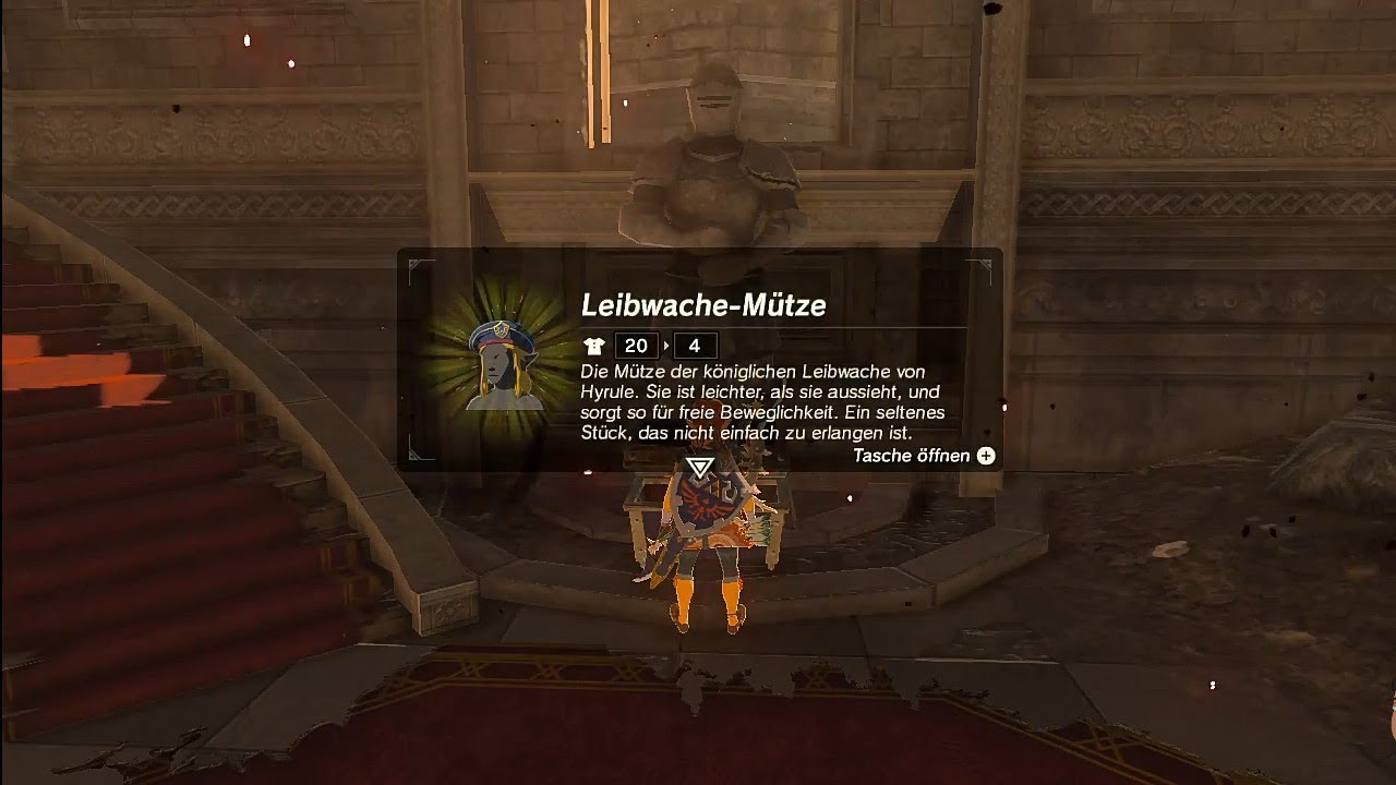 Breath Of The Wild Königliche Küche The Legend Of Zelda Breath Of The Wild Ex Leibwache Mütze Fundort