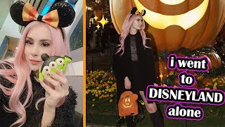 I Went To Disneyland ALONE And This Happened... Leah Ashe Vlog