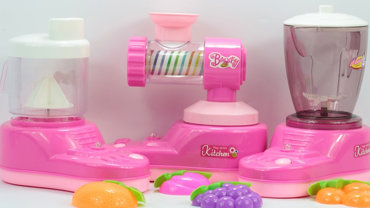 Electronic Kitchen Set Blender Noodle Maker Mixer Sound And Light Function Monkey Play Hd Youtube