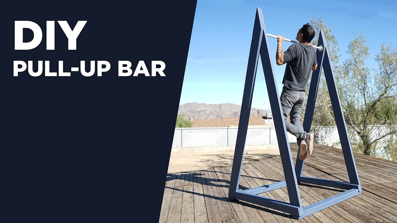 Building An Outdoor Pull Up Bar Diy Chin Up Bar Youtube