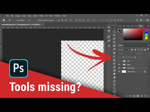 Toolbar Missing And How To Show Other Tools? (Photoshop CC)