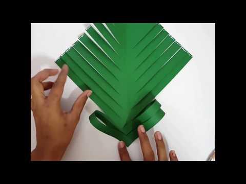 Christmas Tree making DIY // Paper craft