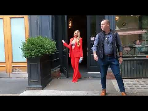 Chrissy Teigen is a stunner in red as she heads to The Wendy Williams Show in New York