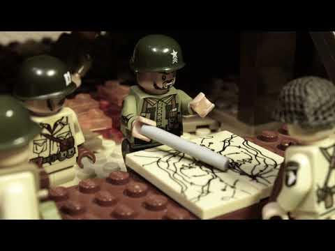 """видео: LEGO WW2 NORMANDY """"БРАТЬЯ ПО ОРУЖИЮ"""" мультфильм о войне 2 серия"""