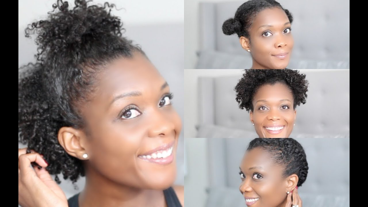 4 Quick & Easy Gym Hairstyles For Short Natural Hair San