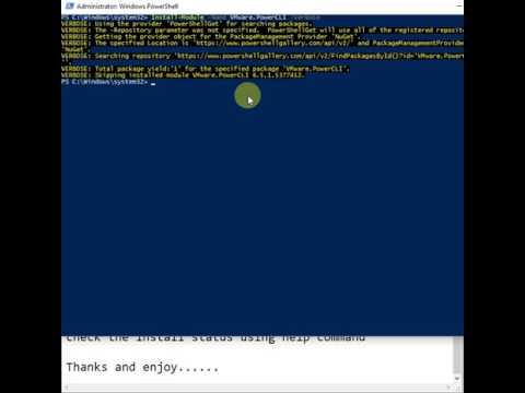 VMware PowerCLI module installation in Powershell