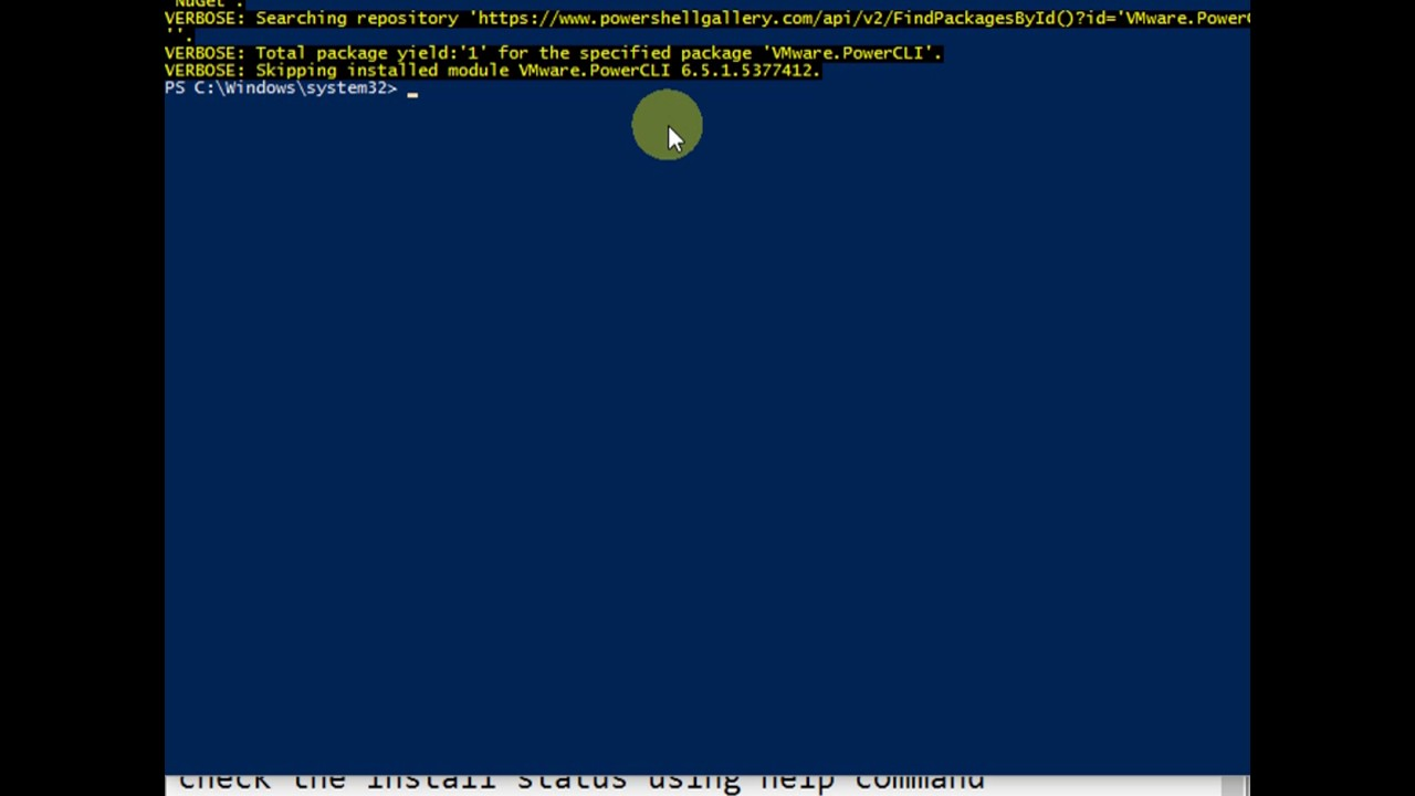 VMware PowerCLI module installation in Powershell