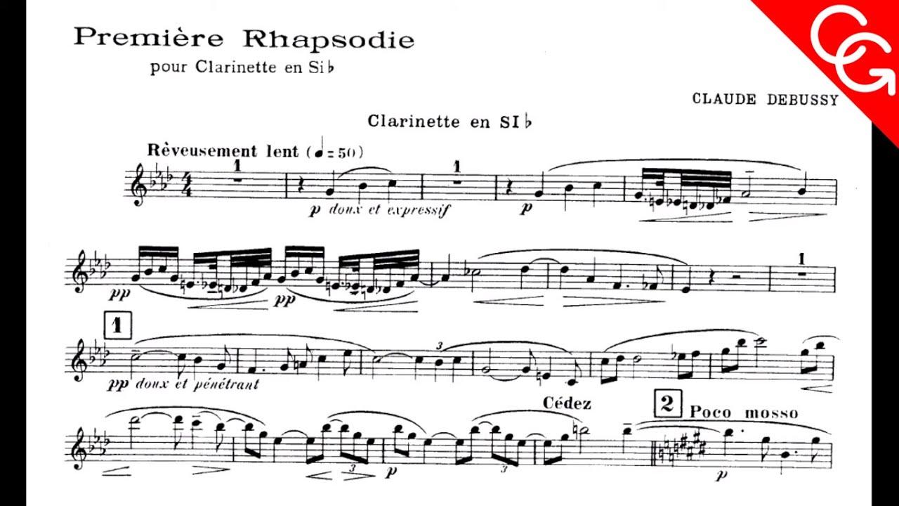 Claude Debussy: Première Rhapsodie Corrado Giuffredi, clarinet