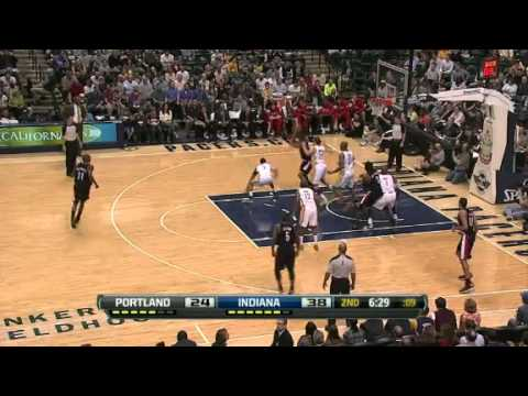 NBA Portland Trail Blazers Vs Indiana Pacers Highlights Mar 13, 2012 Game Recap