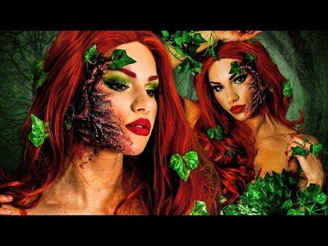 POISON IVY HALLOWEEN Makeup Tutorial! + DIY COSTUME & Hair! - 동영상