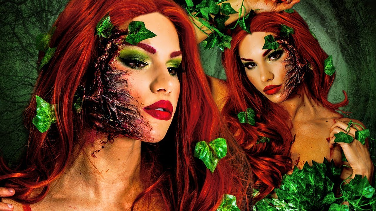 poison ivy halloween makeup