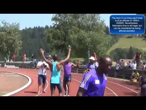 Isaac Makwala runs 43.72 in the 400m