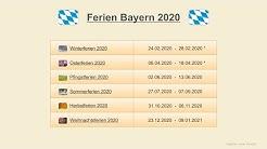 Ferien Bayern 2020 - Termine Schulferien