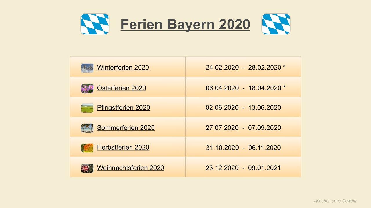 BuГџ Und Bettag Bayern 2020