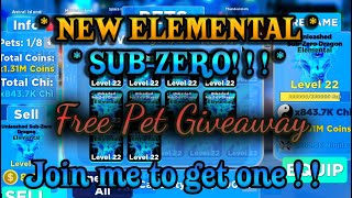⚡Ninja Legends NEW Elemental Giveaway! Join me to get one!!🔴Roblox Live Stream