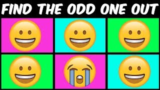 Can you spot the odd one out? Emoji brain game for kids | Best find the difference photo puzzles