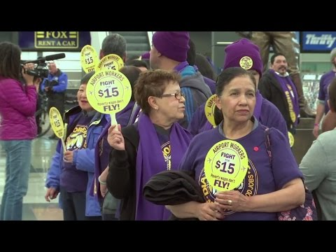 Business Daily: Dozens arrested during US minimum wage protests