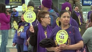 Dozens arrested during US minimum wage protests