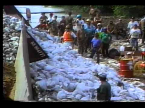 WTJR VIJ-147 Flood of 1993 Quincy IL part 1 Levee breaks
