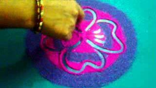 Freehand rangoli made by suvarna