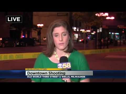Breaking News Live Shot: Shooting In Downtown Milwaukee