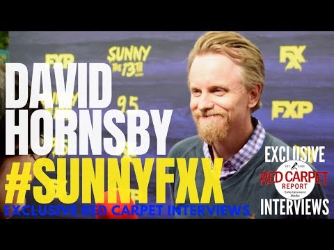 David Hornsby ed at the FXX Premiere for It's Aways Sunny S13 red carpet event SunnyFXX