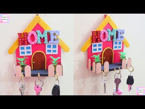 DIY for Home - Unique DIY Key Holder for Wall | Handmade Crafts | Easy Best out of Waste