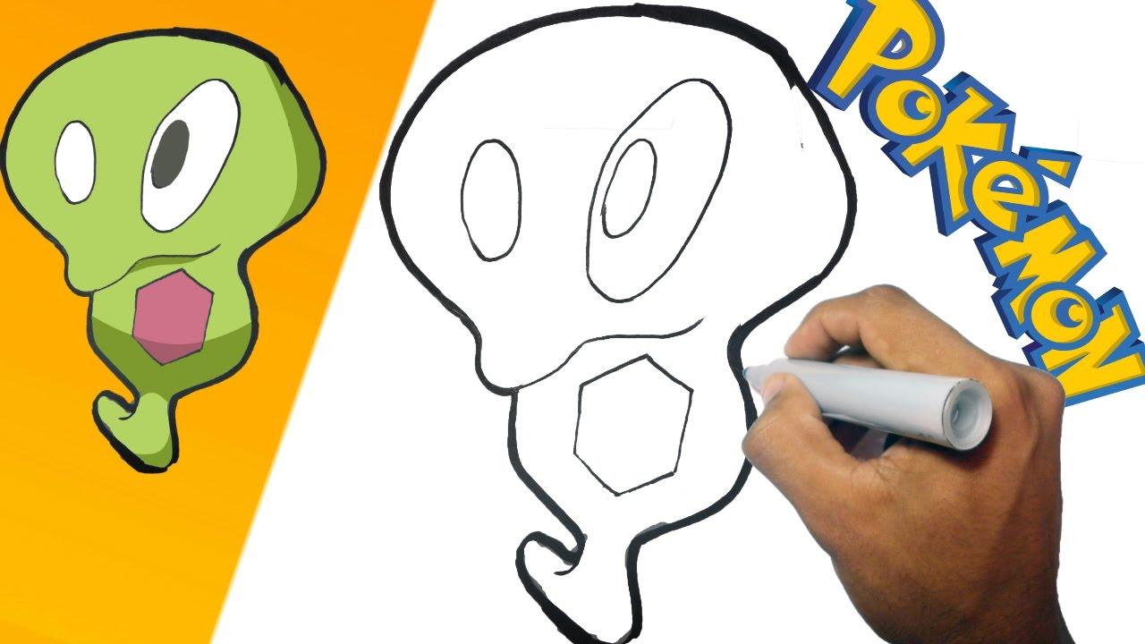 Como dibujar a Blandito  Pokemon paso a paso  how to draw
