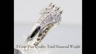 fit for a queen hand made 2 carat diamond engagement ring in 18 karat white gold