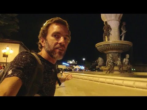 The Nightlife Street Scene In Skopje, North Macedonia