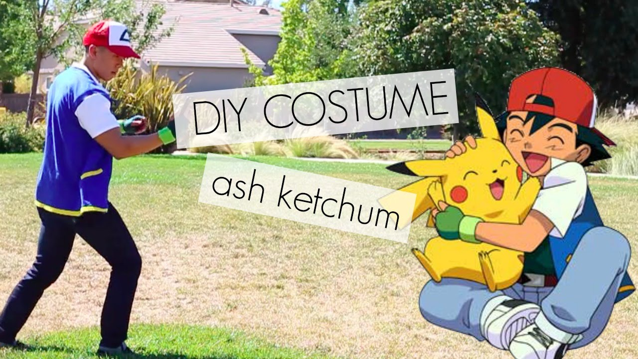 diy costume ash ketchum pokemon youtube