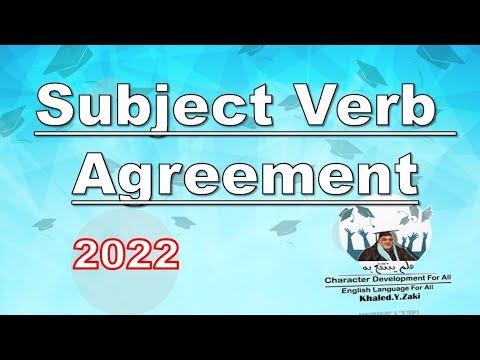 Subject -Verb Agreement Part 1,2& 3   توافق الفاعل مع الفعل  -  الثانوية العامة
